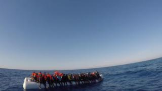 Migrants rescued off the Sicilian coast