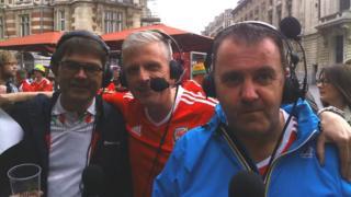Dylan Jones, Gary Pritchard a Dylan Llewelyn yn Ffrainc