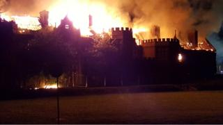 Fire at Little Plumstead Hospital