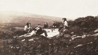 Picnic on Goppa, taken by John Dillwyn Llewellyn on 23 September 1855
