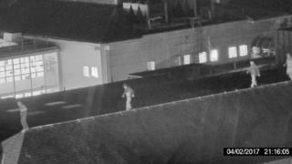 CCTV image of youths on roof