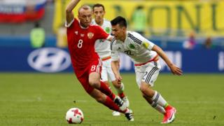 эпизод матча Россия-Мексика