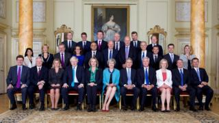 Official portrait of the Cabinet at 10 Downing Street. 2016