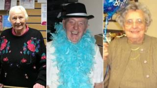 Ellla Towell, Cliff Parker, Irene Astbury