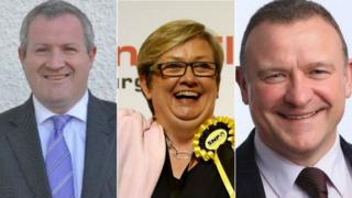 Iain Blackford, Joanna Cherry and Drew Hendry
