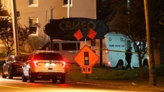 Ação da polícia após tiroteio em Cincinnati.
