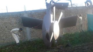 Обломки американского вертолета