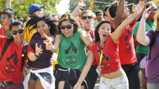 Students at Toronto University