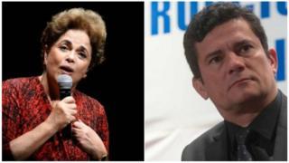 Dilma Rousseff e Sergio Moro