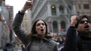 Протест активістів щодо міграційної політики президента Дональда Трампа у Нью-Йорку