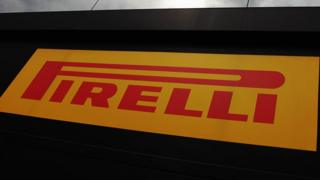 Pirelli tyre transporter is seen during qualifying for the Belgian Grand Prix at Circuit de Spa-Francorchamps on August 24, 2013 in Spa, Belgium.