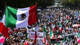 Marcha en Ciudad de México contra Donald Trump
