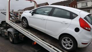 Car being seized