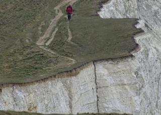 Crack in cliff