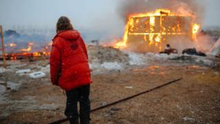 Палаточный лагерь в Северной Дакоте