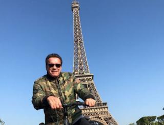 Arnold Schwarzenegger in Paris