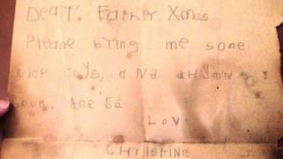 Christine Churchill's letter to Father Christmas