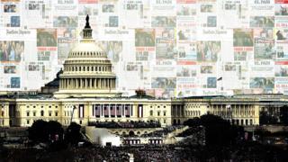 Trump inauguration press graphic