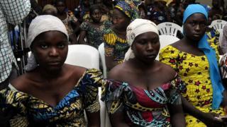 Jovencitas secuestradas en Chibok