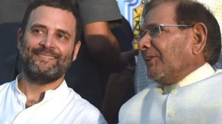 शरद यादव और राहुल गांधी