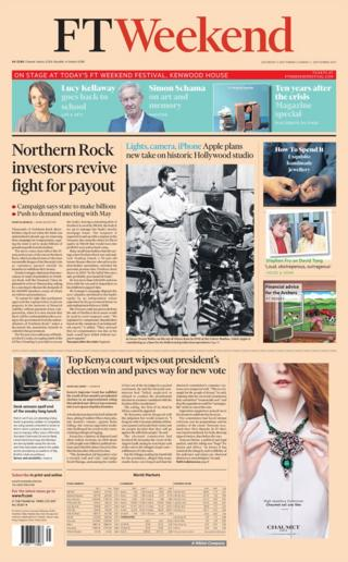 FT Weekend front page