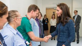 Duchess of Cambridge meeting hospital staff