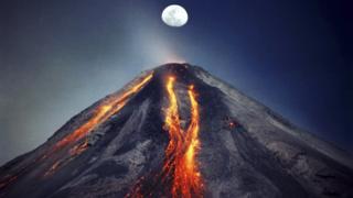 Foto del Volcán de Colima