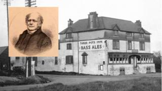William Bass and one of the firm's earliest pubs
