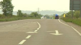 A52 Crash scene