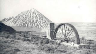 China clay wheel and waste mountain