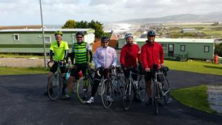 Will Smale and cycling friends