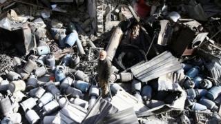 ویرانیهای حملات هوایی دولت سوریه در شرق غوطه