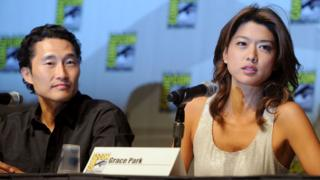 Daniel Dae Kim and Grace Park in 2010