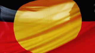 An Aboriginal Australian flag