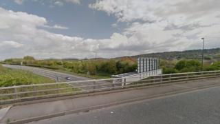 Overbridge near Kings Weston Lane, Bristol