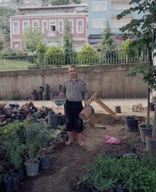 A man stands in his garden