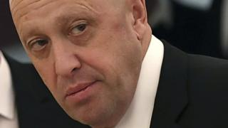 Russian businessman Yevgeny Prigozhin ahead of a meeting at the Kremlin in Moscow, 4 July 2018