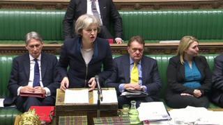 Theresa May addressing MPs