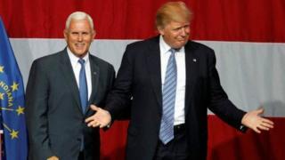 Donald Trump da Mike Pence