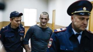 Petr Pavlensky in court May 2016