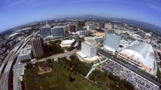 Vista aérea de San José, California, Estados Unidos