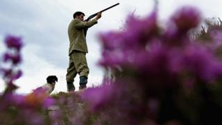 Scottish gamekeeper with his rifle