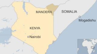 Ramani ya Kenya na Somalia