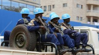 UN Minusca peacekeepers