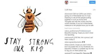 "Bee image: ""Stay strong our kid"""
