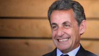 Nicolas Sarkozy at a farm in Kriegsheim near Strasbourg, France (July 9, 2016)