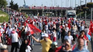 راهپیمایی ترکیه