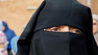 A niqab-wearer - archive pic