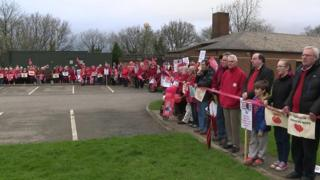 """Holsworthy """"red line"""" protest"""