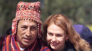 Alejandro Toledo y Elian Karp (año 2000).